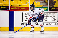 October 13, 2007 - Anchorage, Alaska: Jake Sparks (27) of the Robert Morris Colonials as the Colonials take a 4-1 victory over the Wayne State Warriors at the Nye Frontier Classic at the Sullivan Arena.