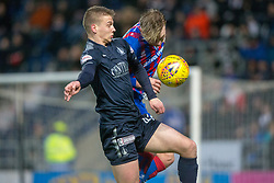 Falkirk's Andrew Nelson and Inverness Caledonian Thistle's Coll Donaldson. Falkirk 3 v 1 Inverness Caledonian Thistle, Scottish Championship game played 27/1/2018 at The Falkirk Stadium.
