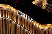 Aerial view of  Venetian Hotel the Strip, Las Vegas, Nevada, USA