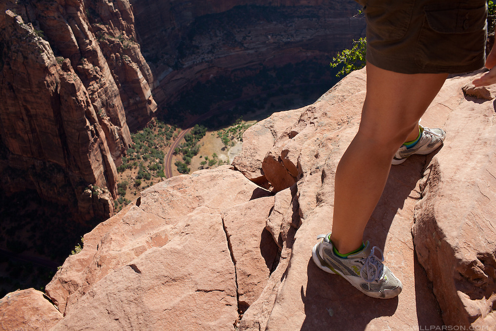 Angel's Landing trail in Zion National Park.