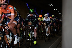Amalie Dideriksen emerges from the tunnel at Ronde van Drenthe 2017. A 152 km road race on March 11th 2017, starting and finishing in Hoogeveen, Netherlands. (Photo by Sean Robinson/Velofocus)