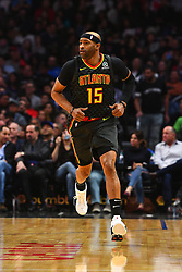 January 29, 2019 - Los Angeles, CA, U.S. - LOS ANGELES, CA - JANUARY 28: Atlanta Hawks Forward Vince Carter (15) runs up the floor during a NBA game between the Atlanta Hawks and the Los Angeles Clippers on January 28, 2019 at STAPLES Center in Los Angeles, CA. (Photo by Brian Rothmuller/Icon Sportswire) (Credit Image: © Brian Rothmuller/Icon SMI via ZUMA Press)