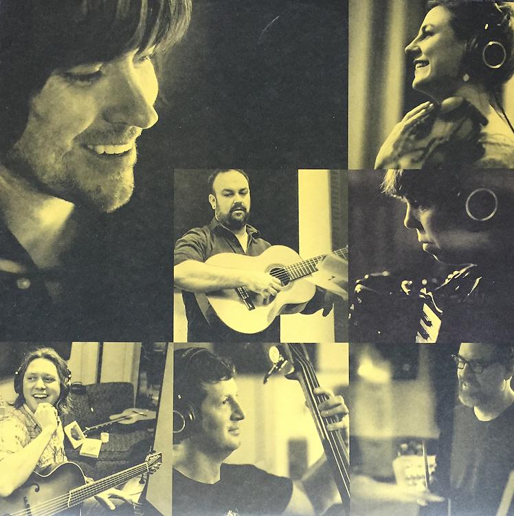 """Rhett Miller + Black Prairie, """"The Traveler"""" album sleeve photos."""
