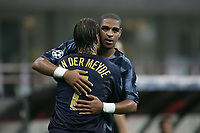 Milano 14/9/2004 Champions League Matchday 1<br /> <br /> Inter Werder Bremen 2-0 <br /> <br /> Adriano and Andy Van Der Meyde celebrate second goal of Adriano<br /> <br /> Foto Andrea Staccioli Graffiti