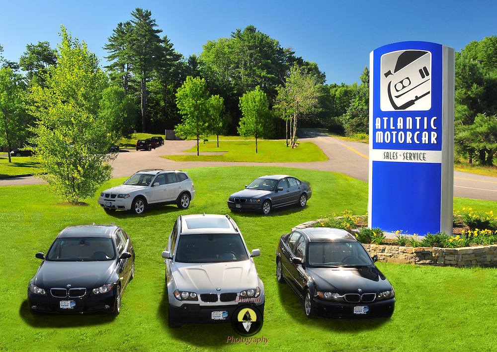 11/11/11 Woolwich Maine Atlantic Auto imagery for commercial uses. (Composite of last year's lawn and BMW cars for this year's work.)Download, use and editing released for all purposes to Atlantic Auto and their authorized agents.  (© Duncan Photography 2011) ..