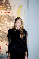 Eugenie Niarchos at a private view of Nicolas Pol's paintings entitled 'Mother of Pouacrus' held at The Dairy, Wakefield Street, London WC1 on 14th October 2010.