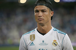 August 17, 2017 - Madrid, Spain - Cristiano Ronaldo on the pitch after the game. Real Madrid defeated Barcelona 2-0 in the second leg of the Spanish Supercup football match at the Santiago Bernabeu stadium in Madrid, on August 16, 2017. (Credit Image: © Antonio Pozo/VW Pics via ZUMA Wire)
