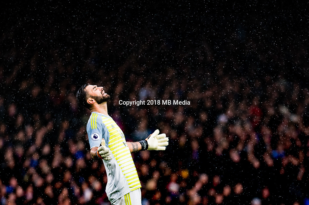 LONDON, ENGLAND - OCTOBER 06: Rui Patricio of Wolverhampton looks on during the Premier League match between Crystal Palace and Wolverhampton Wanderers at Selhurst Park on October 6, 2018 in London, United Kingdom. (Photo by Sebastian Frej/MB Media)