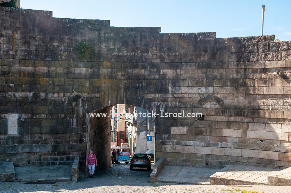 Porto, Portugal the remaining gate in the 12th century fortified wall on Cathedral Hill