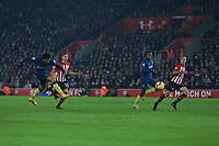 Football - 2018 / 2019 Premier League - Southampton vs. West Ham United<br /> <br /> Felipe Anderson of West Ham United fires in goal number two at St Mary's Stadium Southampton<br /> <br /> COLORSPORT/SHAUN BOGGUST