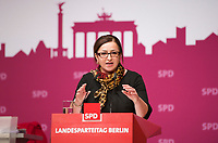 DEU, Deutschland, Germany, Berlin, 27.10.2012:<br />Landesparteitag der Berliner SPD im Berliner Congress Center (BCC) am Alexanderplatz. Rede von Dilek Kolat (SPD), Senatorin für Arbeit, Integration und Frauen des Landes Berlin.