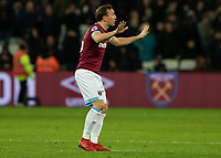 Football - 2018 / 2019 Premier League - West Ham United vs. Brighton & Hove Albion<br /> <br /> Mark Noble (West Ham United) appeals to his team mates for calm as they comeback from 2 goals down at the London Stadium<br /> <br /> COLORSPORT/DANIEL BEARHAM