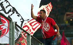A Cologne fan jeers up the crowd - Mandatory by-line: Robbie Stephenson/JMP - 23/11/2017 - FOOTBALL - RheinEnergieSTADION - Cologne,  - Cologne v Arsenal - UEFA Europa League Group H
