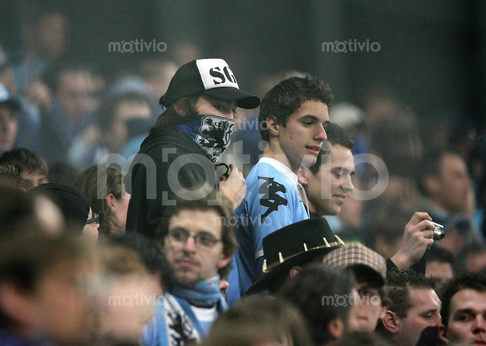 Fussball 2. Bundesliga Saison 2006/2007    26. Spieltag 1860 Muenchen 0-3 FC Augsburg 1860 Fans
