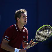 Richard Gasquet France, in action against David Ferrer, Spain, during the Men's Singles Quarterfinals match at the US Open. Flushing. New York, USA. 4th September 2013. Photo Tim Clayton