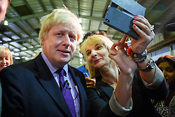 © Licensed to London News Pictures. 24/04/2015. LONDON, UK. Mayor of London and Conservative Party parliamentary candidate for Uxbridge and South Ruislip, Boris Johnson leaving Lynch House in Stanmore, northwest London after making a speech on Friday, 24 April 2015. Photo credit : Tolga Akmen/LNP
