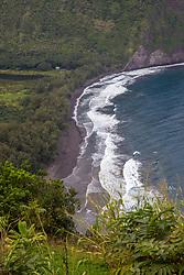 Waipi'o Valley Black Sand Beach