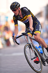 August 3, 2018 - Putte, BELGIUM - Belgian Toon Aerts of Telenet-Fidea pictured in action during the 3rd edition of the 'Natourcriterium Putte' cycling event, Friday 03 August 2018 in Putte. The contest is a part of the traditional 'criteriums', local races in which mainly cyclists who rode the Tour de France compete. BELGA PHOTO LUC CLAESSEN (Credit Image: © Luc Claessen/Belga via ZUMA Press)