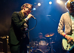 © Licensed to London News Pictures. 06/05/2012. London, UK. Spector perform live at KOKO, during the final day of the two day music festival The Camden Crawl.  Spector is a five-piece indie rock band from London, comprising Frederick Macpherson (vocals), Christopher Burman (guitar), Thomas Shickle (bass), Jed Cullen (synth, guitar) and Danny Blandy (drums).  Photo credit : Richard Isaac/LNP