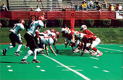 September 22, 2001:  Illinois State Redbirds Football, .This image was scanned from a print.  Image quality may vary.  Dust and other unwanted artifacts may exist.
