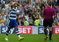 Football - 2016 / 2017 Championship Playoff Final: Reading vs. Huddersfield<br /> <br /> Jordan Obita of Reading after his missed penalty meant another year in the championship for his team at Wembley Stadium.<br /> <br /> COLORSPORT/DANIEL BEARHAM