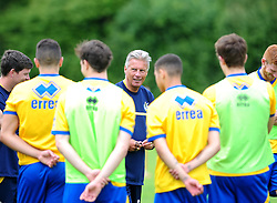 Bristol Rover's manager, John Ward speaks to the squad  - Photo mandatory by-line: Dougie Allward/JMP - Tel: Mobile: 07966 386802 24/06/2013 - SPORT - FOOTBALL - Bristol -  Bristol Rovers - Pre Season Training - Npower League Two