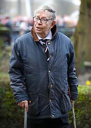 Neil Baldwin arrives at the funeral service for Gordon Banks at Stoke Minster.