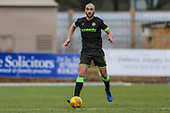 Forest Green Rovers Farrend Rawson(6) on the ball during the EFL Sky Bet League 2 match between Stevenage and Forest Green Rovers at the Lamex Stadium, Stevenage, England on 26 January 2019.