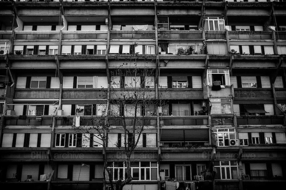 Case popolari nel quartiere di Tor Sapienza. Roma 21 novembre 2014.  Christian Mantuano / OneShot