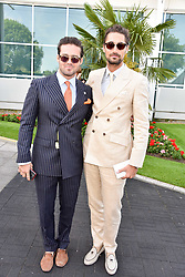 Spencer Mathews and Hugo Taylor at The Investec Derby, Epsom, Surrey England. 3 June 2017.<br /> Photo by Dominic O'Neill/SilverHub 0203 174 1069 sales@silverhubmedia.com