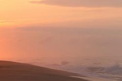 Sunrise on the beach in East Hampton, NY