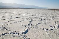 Mosaic patterns in salt pan, Death Valley National Park, California