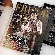 Cover photo for Frisör. Joanna Mroczek at Stüffes Barber, Falun. Photos by Daniel Roos, Stockholm, Sweden