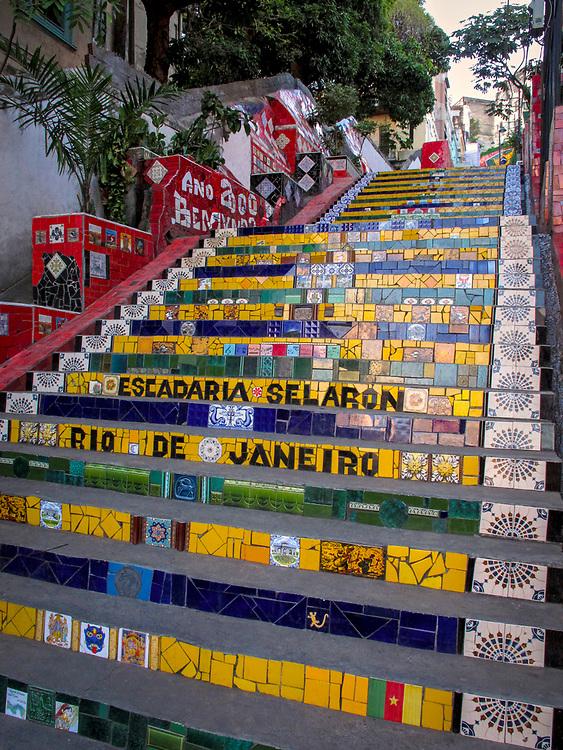 Mosaic Selarón Staircase created by Jorge Selarón, Rio de Janeiro