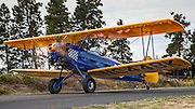 Fleet 2 taxiing at Hood River Fly In at Western Antique Aeroplane and Automobile Museum