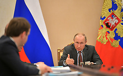 July 5, 2018 - Moscow, Russia - July 5, 2018. - Russia, Moscow. - President of Russia Vladimir Putin holds a meeting on economic issues. (Credit Image: © Russian Look via ZUMA Wire)