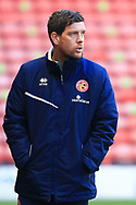 Darrell Clarke manager of Walsall FC during the The FA Cup match between Walsall and Bristol Rovers at the Banks's Stadium, Walsall, England on 7 November 2020.