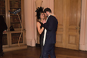 Ball at to celebrateBlanche Howard's 21st and  George Howard's 30th  birthday. Dress code: Black Tie with a touch of Surrealism. Castle Howard. Yorkshire. 14 November 2015