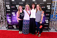 Rebecca Rusch and attendees on the red carpet at the screening of Blood Road at the Bluebird Theater in Denver, CO, USA on 27 June, 2017.