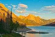 Medicine Lake and teh Candian Rocky Mountains, Jasper National Park, Alberta, Canada