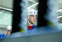 Rok Ticar of Slovenia during practice session of Slovenian Ice Hockey National Team at Day 4 of 2015 IIHF World Championship, on May 4, 2015 in Practice arena Vitkovice, Ostrava, Czech Republic. Photo by Vid Ponikvar / Sportida