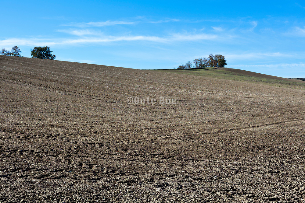 bare industrial agriculture landscape France in the Languedoc Aude