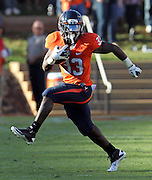 Oct. 15, 2011-Charlottesville, VA.-USA- Virginia Cavaliers running back Perry Jones (33) runs with the ball during the ACC football game against Georgia Tech at Scott Stadium. Virginia won 24-21. (Credit Image: © Andrew Shurtleff