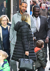 Rio Ferdinand and his new girlfriend Katie Wright nip into the Christmas Markets in Manchester city centre on Saturday morning
