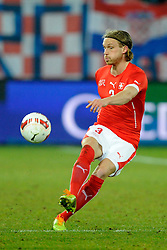 05.03.2014, AFG Arena, St. Gallen, SUI, Testspiel, Schweiz vs Kroatien, im Bild Michael Lang (SUI) // during the International Friendly match between Switzerland and Croatia at the AFG Arena in St. Gallen, Switzerland on 2014/03/06. EXPA Pictures © 2014, PhotoCredit: EXPA/ Freshfocus/ Andy Mueller<br /> <br /> *****ATTENTION - for AUT, SLO, CRO, SRB, BIH, MAZ only*****