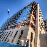 Construction of 4840 Roanoke/Plaza Vista for headquarters of law firm Polsinelli Shughart. JE Dunn general contractor.