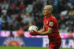 20.02.2016, Allianz Arena, Muenchen, GER, 1. FBL, FC Bayern Muenchen vs SV Darmstadt 98, 22. Runde, im Bild Arjen Robben (FC Bayern Muenchen) // during the German Bundesliga 22nd round match between FC Bayern Munich and SV Darmstadt 98 at the Allianz Arena in Muenchen, Germany on 2016/02/20. EXPA Pictures © 2016, PhotoCredit: EXPA/ Eibner-Pressefoto/ Stuetzle<br /> <br /> *****ATTENTION - OUT of GER*****