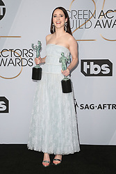 LOS ANGELES, CA - JANUARY 27: Rachel Brosnahan at The 25th Annual Screen Actors Guild Awards - Press Room at the Shrine Auditorium in Los Angeles, California on January 27th, 2019. 27 Jan 2019 Pictured: Rachel Brosnahan. Photo credit: MPIFS/Capital Pictures / MEGA TheMegaAgency.com +1 888 505 6342