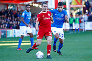 Accrington Stanley midfielder Sean McConville (11)  during the EFL Sky Bet League 1 match between Accrington Stanley and Portsmouth at the Fraser Eagle Stadium, Accrington, England on 27 October 2018.