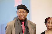 NEW YORK - March 27: Painter Eric Girault was honored by FOKAL at their Promise of Haiti II Event on March 27, 2015 at the Medici Group's offices in New York. 2015 © Cat Laine.